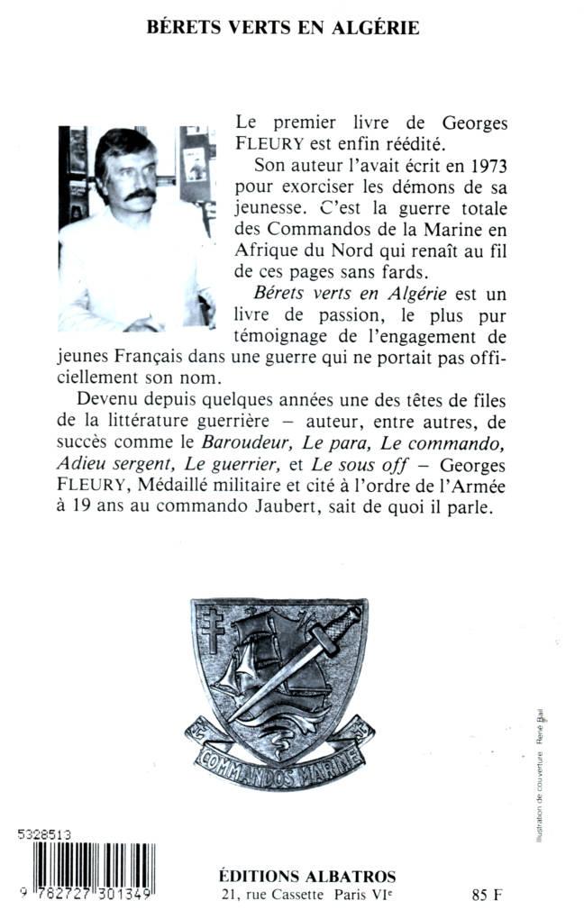 Bérets verts en Algérie de Georges Fleury éditions Albatros
