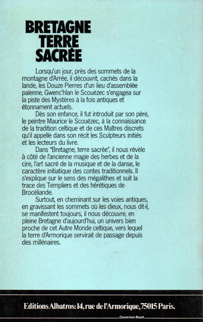 Bretagne terre sacrée de Gwen'Hlan éditions Albatros