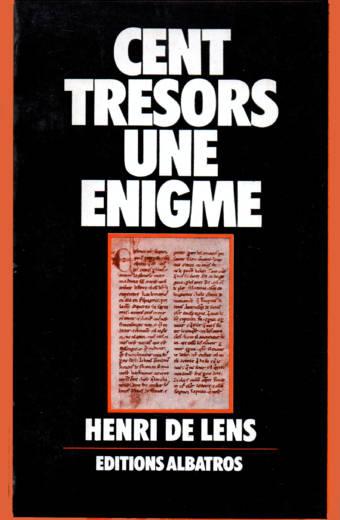Cent trésors une énigme d'Henri de Lens éditions Albatros