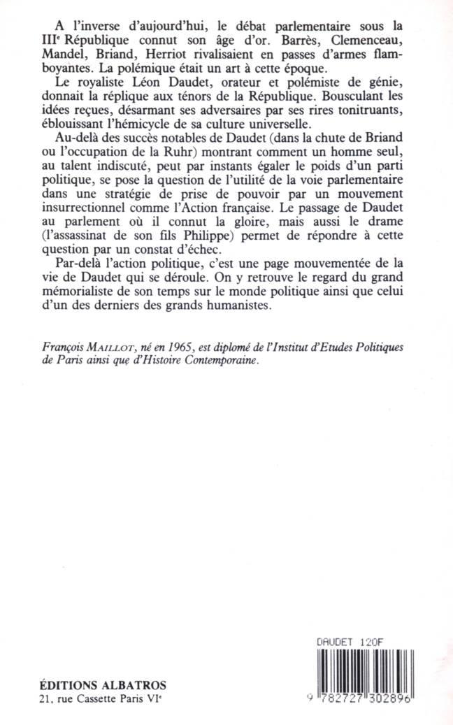 Léon Daudet député royaliste éditions albatros