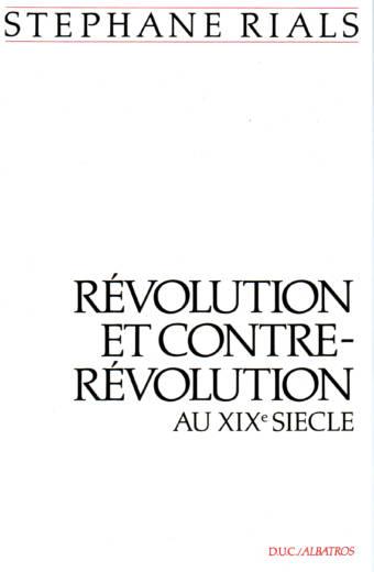 Révolution et contre-révolution au XIXe siècle DUC / Albatros